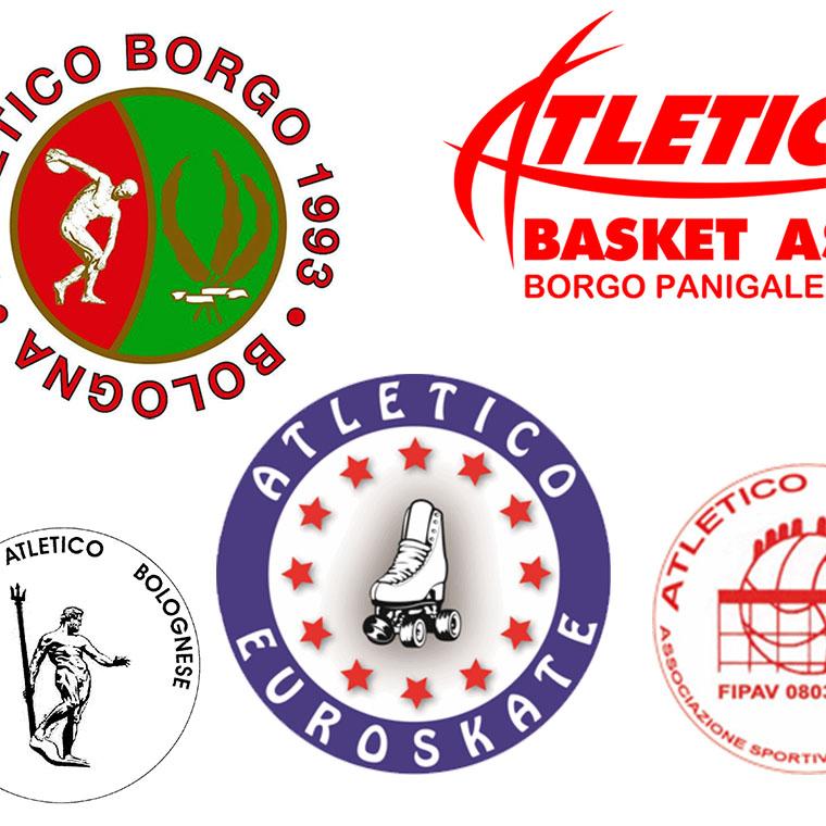 Loghi delle associazioni collegate alla Polisportiva Atletico Borgo Panigale
